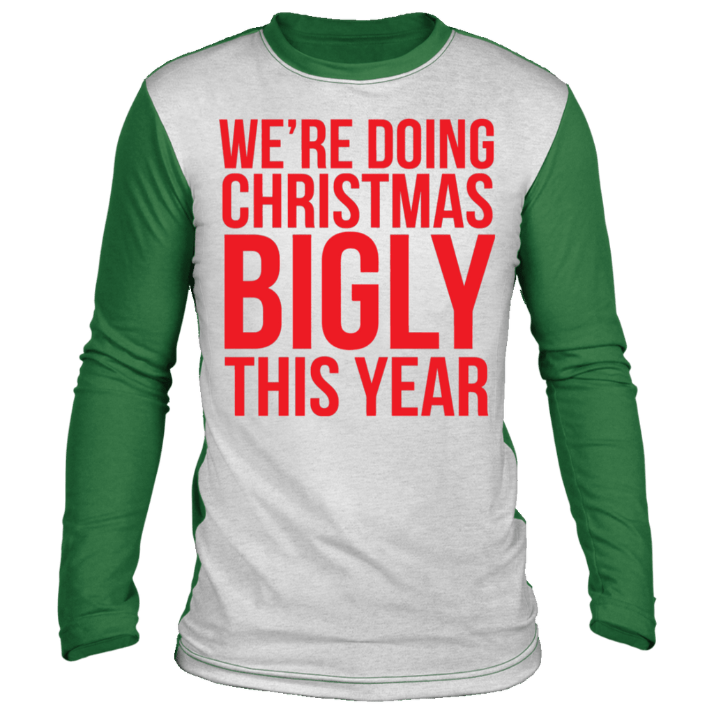 We're doing Christmas Bigly This Year Color Block Ugly Holiday Sweater sweatshirt