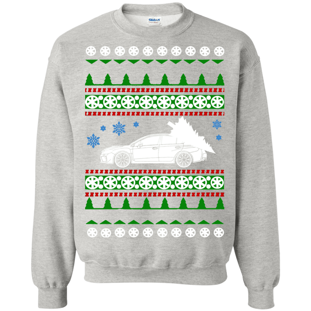 Subaru 2017 WRX STI sedan Ugly Christmas Sweater