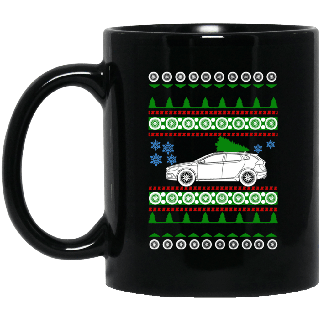 Volvo V40 Ugly Christmas Sweater Mug