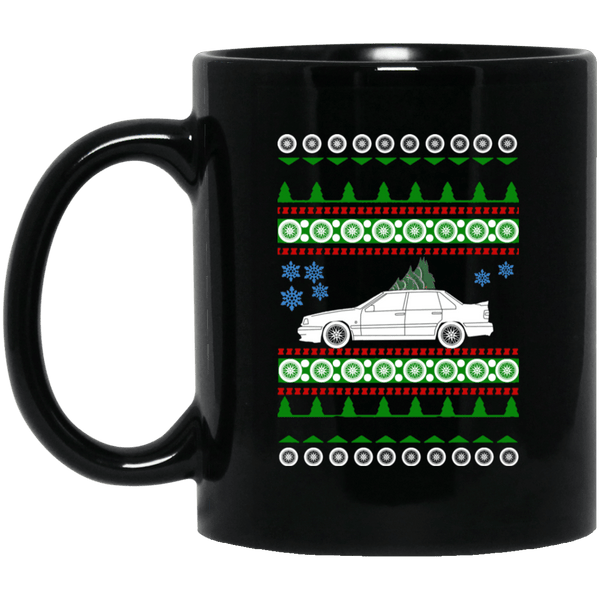 Swedish Car like Volvo 850R Sedan Ugly Christmas Sweater Coffee Mug