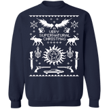 A very supernatural ugly christmas sweater sweatshirt