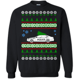 Police car ugly christmas sweater