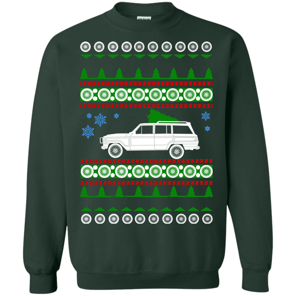 Jeep Grand Wagoneer 1989 ugly christmas sweater sweatshirt