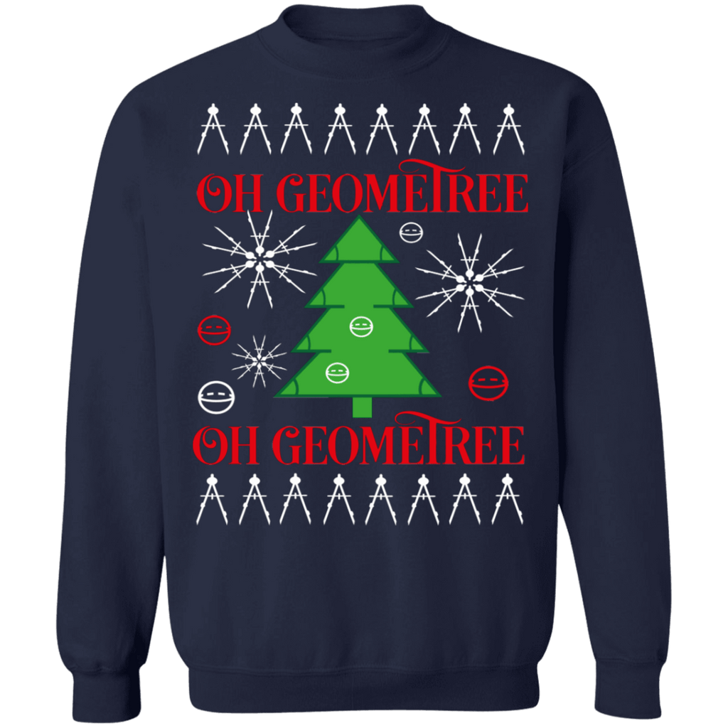 Geometry Math Oh Geometree Ugly Christmas Sweater sweatshirt