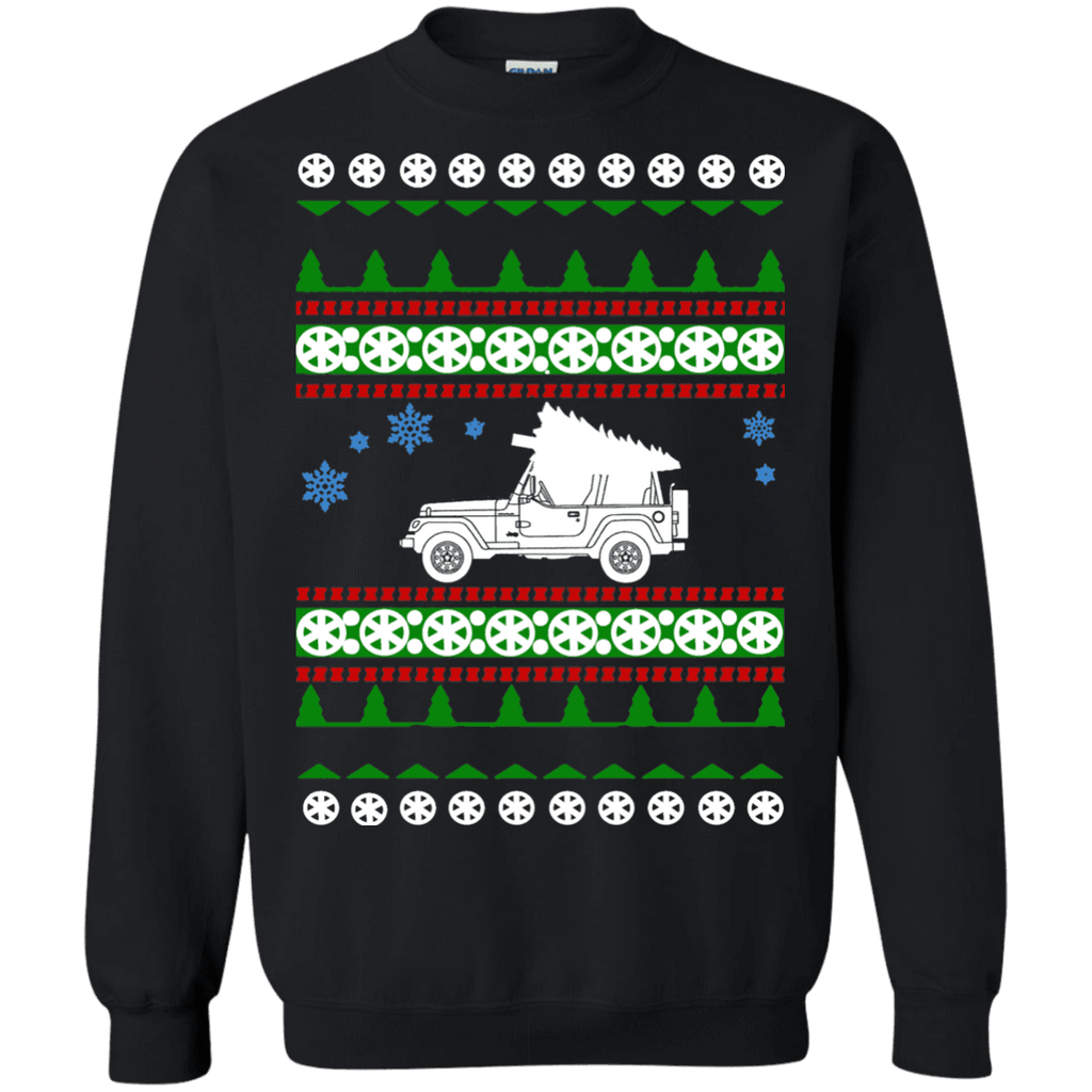 Jeep Wrangler Ugly christmas sweater sweatshirt