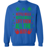 Kettle bells all the way ugly christmas sweater sweatshirt