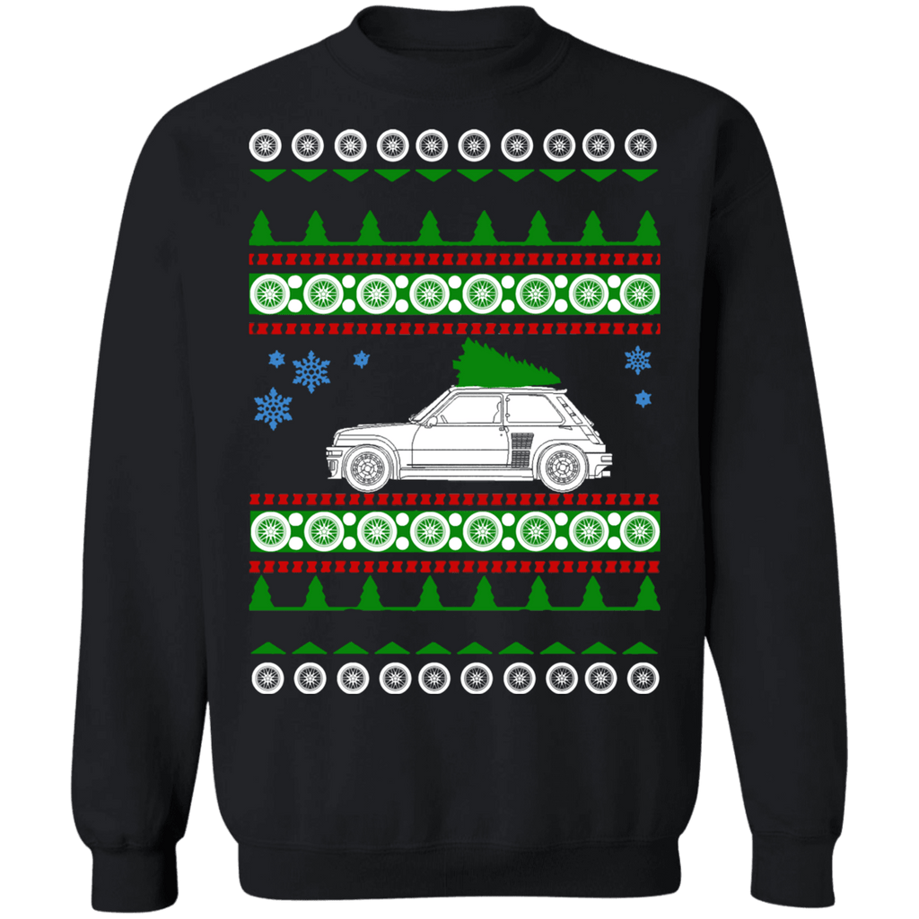 Renault R5 Turbo rally Car Ugly Christmas Sweater Sweatshirt sweatshirt