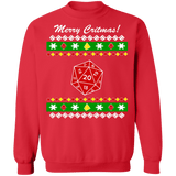 Dice Game Ugly Christmas Sweater Role playing D and D sweatshirt