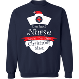 The best nurse gave me this shirt Nursing Ugly Christmas Sweater Sweatshirt