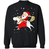Santa Riding a Unicorn Ugly Christmas Sweater sweatshirt