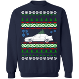 Swedish Car like Volvo 850R Sedan Ugly Christmas Sweater