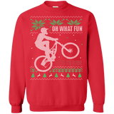 Oh what fun it is to ride! Mountain biking Ugly Christmas Sweater sweatshirt