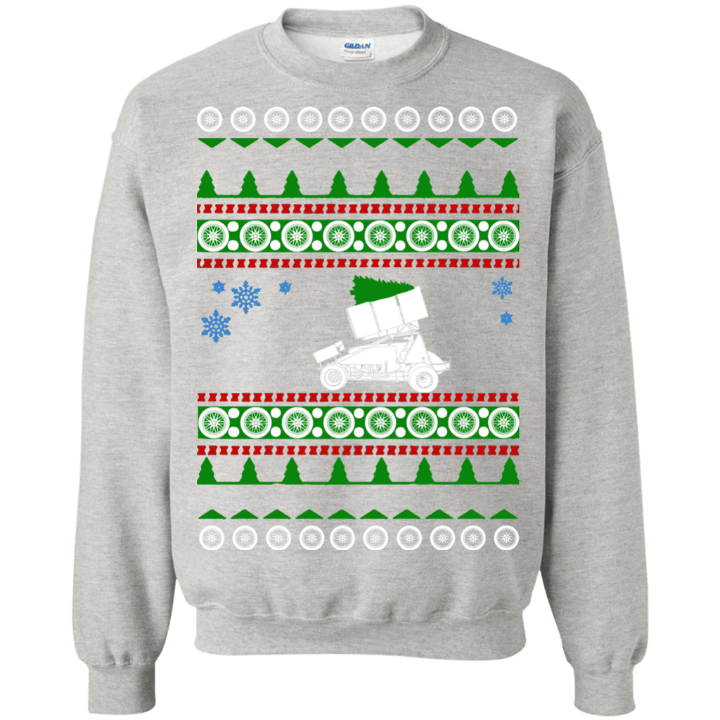 Sprint Car ugly christmas Sweater