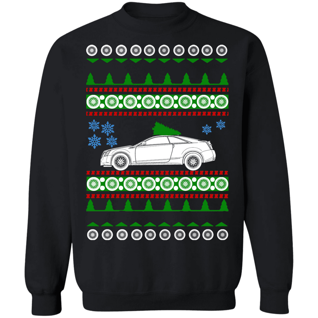 Car Ugly Christmas Sweater Cadillac CTS-V Coupe 2011 sweatshirt
