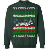 Backhoe ugly christmas sweater heavy equipment construction excavator