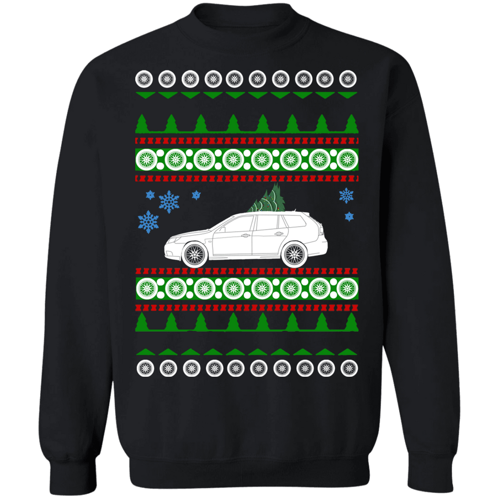 Saab 9-3 Wagon Ugly Christmas Sweater sweatshirt