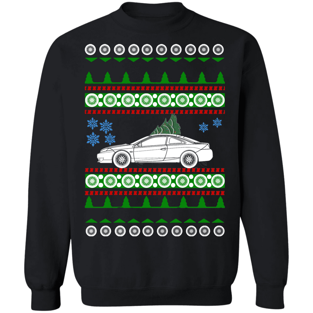 American Car Mercury Cougar 2001 Ugly Christmas Sweater Sweatshirt