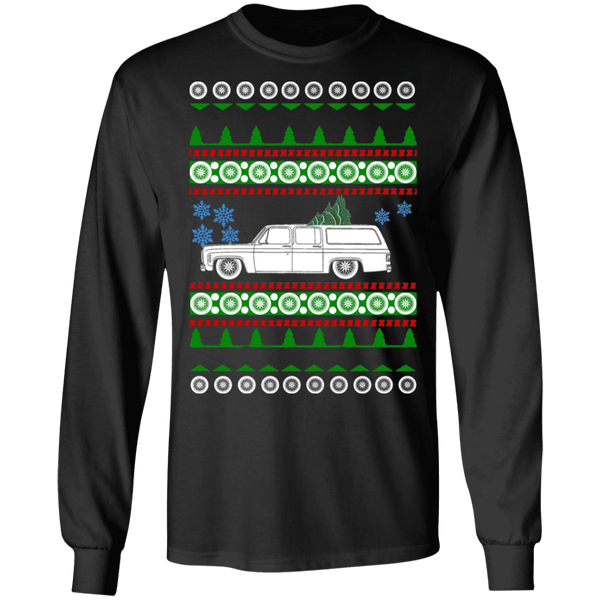 Truck Like Chevy Suburban 7th Gen Ugly Christmas Sweater long sleeve t-shirt