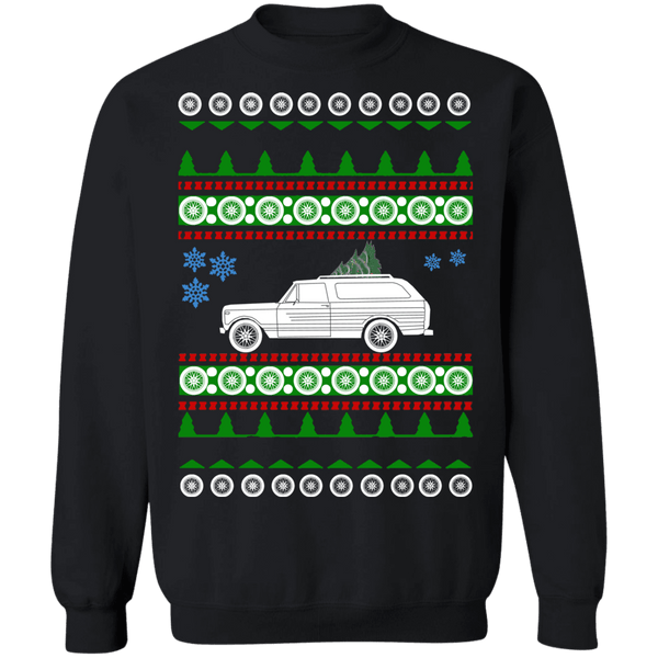 1979 International Harvester Scout Traveler 2 ugly christmas sweater