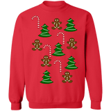 Gingerbread and candycane ugly christmas sweater sweatshirt