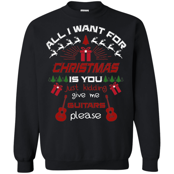 All I want for Christmas is Guitars Ugly Christmas Sweater