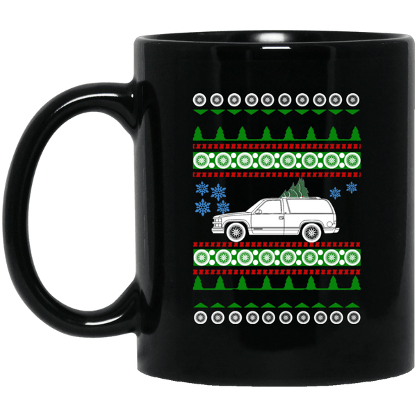 Chevy Tahoe 1st gen ugly christmas sweater mug