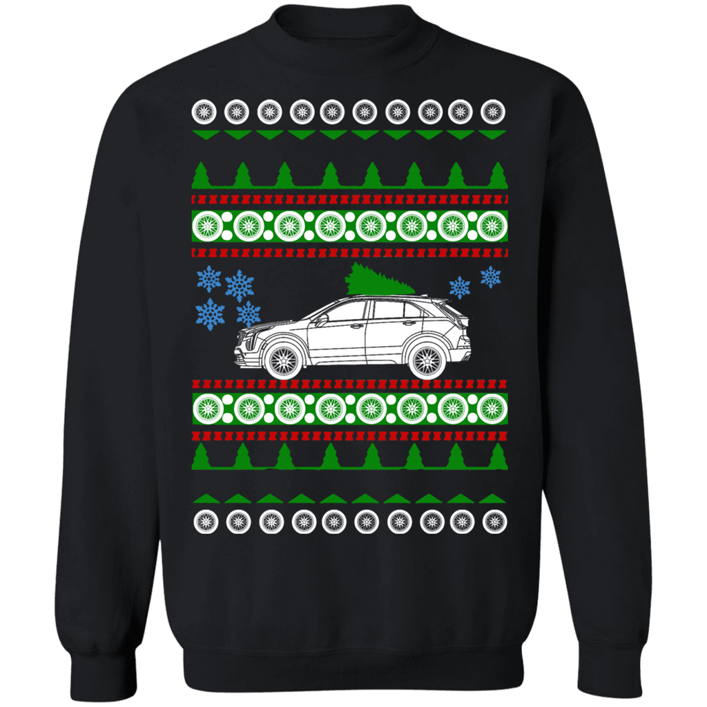 SUV Ugly Christmas Sweater Cadillac XT-4 sweatshirt