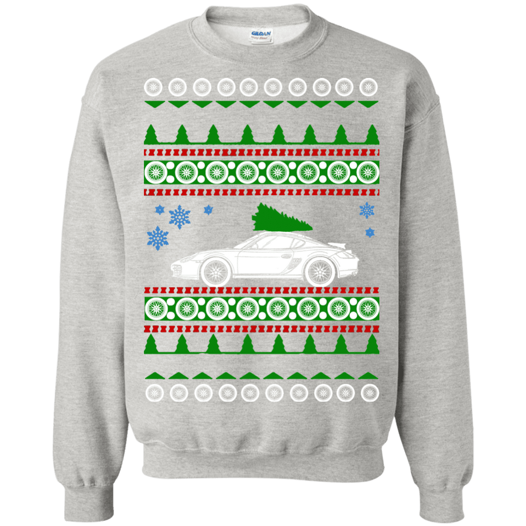 German Car Porsche Cayman GT4 Ugly Christmas Sweater