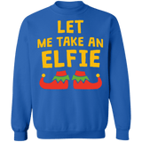let me take an elfie ugly christmas sweater sweatshirt