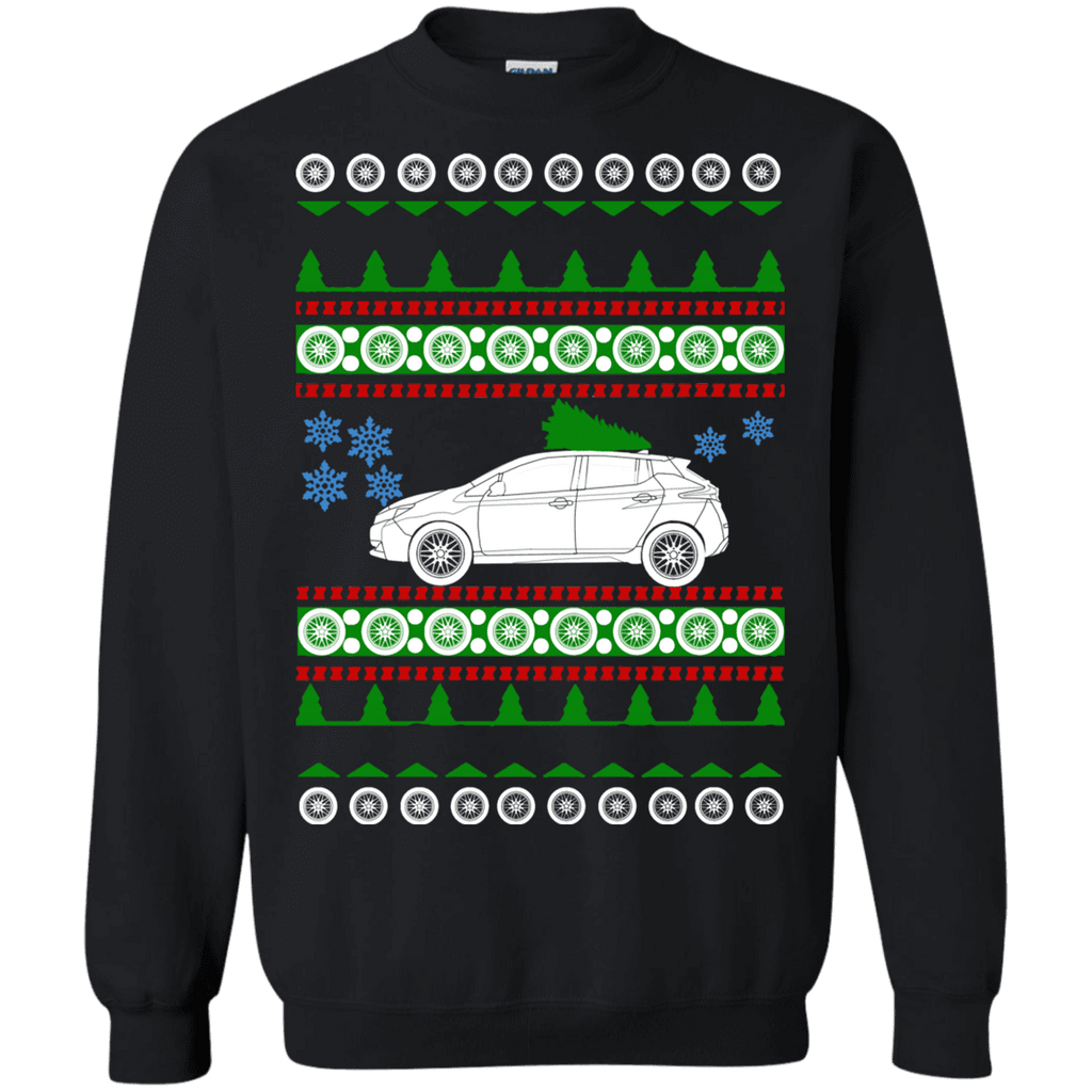 Electric Car Nissan Leaf 2018 Ugly Christmas Sweater sweatshirt