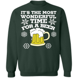 It's the most wonderful time for a beer ugly christmas sweater sweatshirt