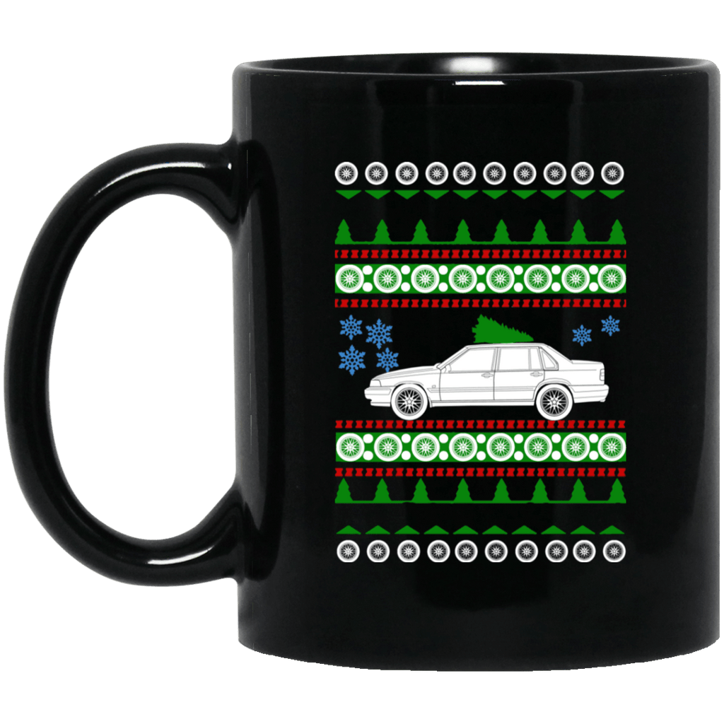Volvo 1996 960 Sedan ugly christmas sweater mug
