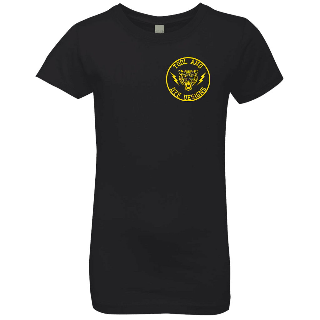Tiger's Head Vintage Gas Station Logo Tool and Dye girls t-shirt