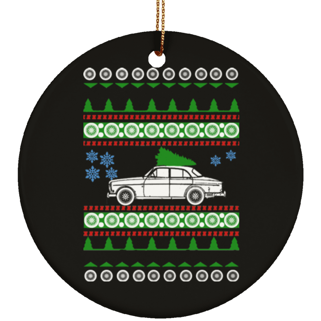 Volvo 123GT Ugly Christmas Sweater Ornament