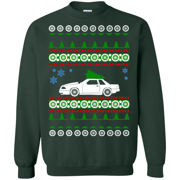 ford mustang 1988 notchback ugly christmas sweater