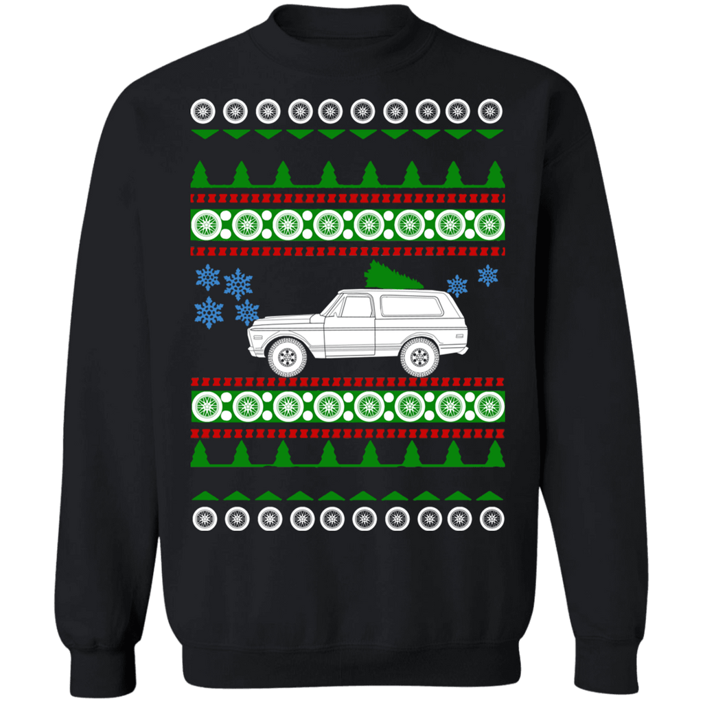 American car 1971 GMC Jimmy Ugly Christmas Sweater sweatshirt