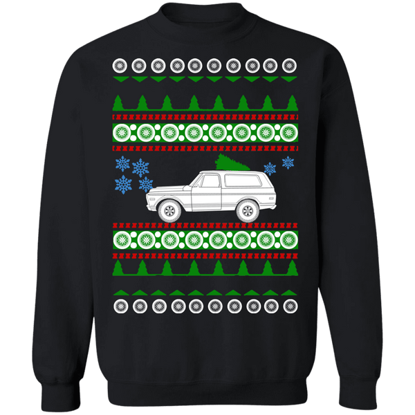 American car 1971 GMC Jimmy Ugly Christmas Sweater