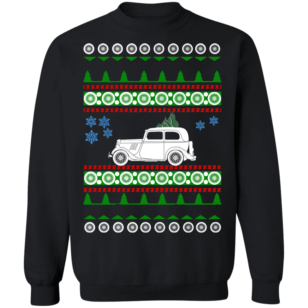 Car Ford Model Y ugly christmas sweater sweatshirt