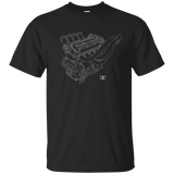 BMW M10 Engine Blueprint Illustration T-shirt