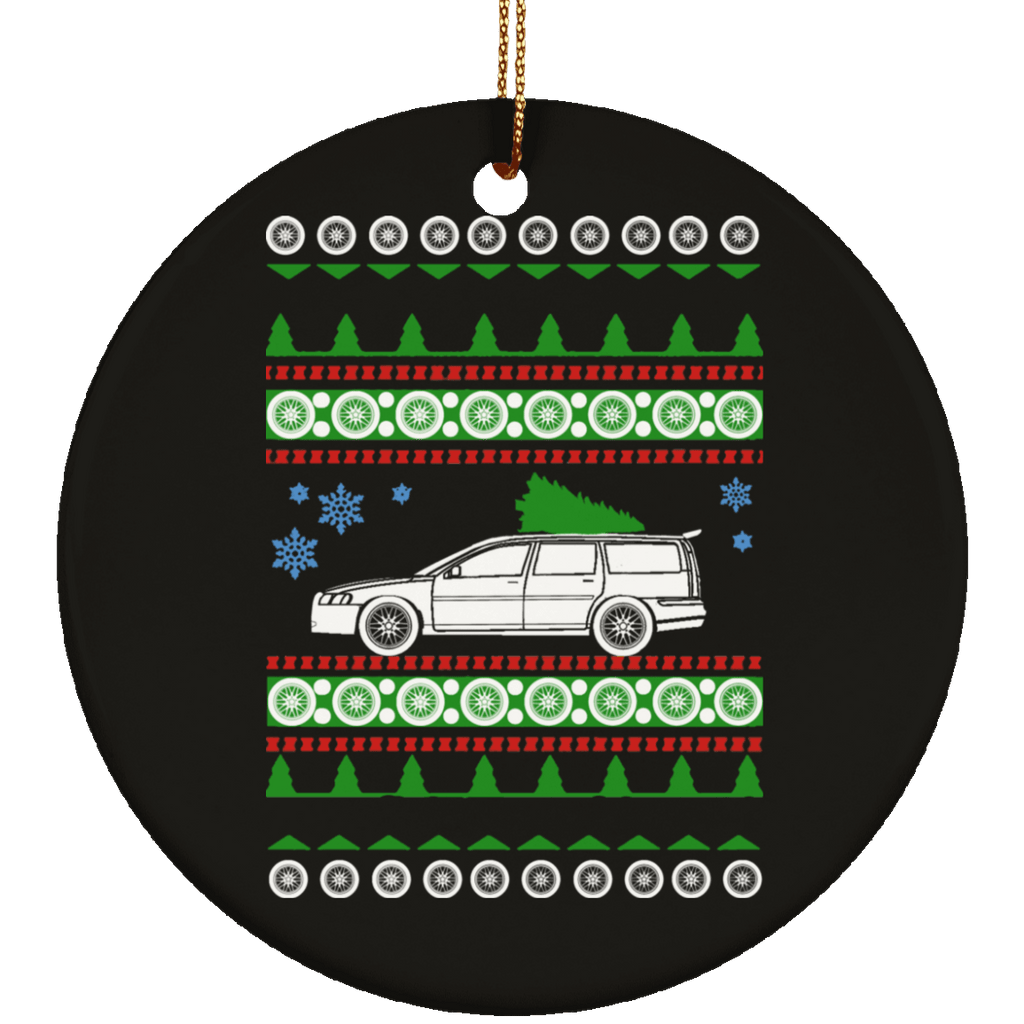 Volvo V70R Ugly Christmas Sweater Ornament
