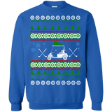 Golf Cart Ugly Christmas Sweater Golfer gift