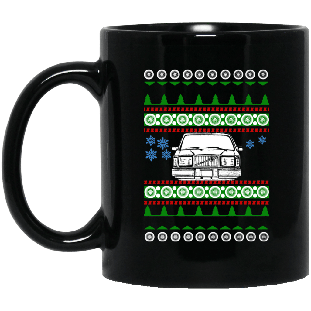 Volvo 240 245 front view Ugly Christmas Sweater Mug
