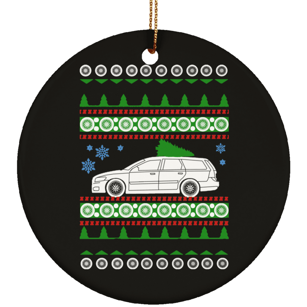 Volvo 2004 V50 Ugly Christmas Sweater Ornament