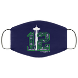 Seattle 12th man face mask seahawks