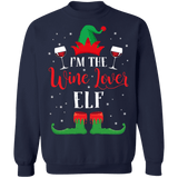 I'm the Wine Lover Elf Ugly Christmas Sweater sweatshirt
