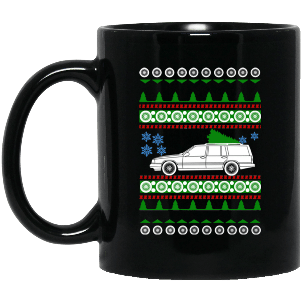 Volvo 940 Estate Wagon 1993 Ugly Christmas Sweater Mug