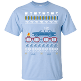"Volvo 240 Ugly Summer ""Christmas"" shirt with Blue car"