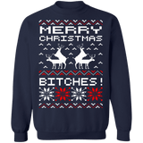 Merry Christmas Bitches Ugly Christmas Holiday Sweater Reindeer Humping sweatshirt