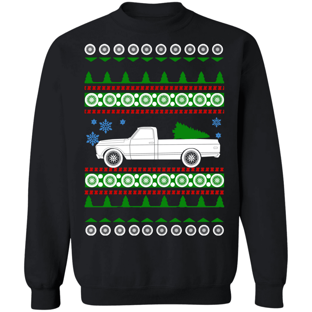1972 Chevy C10 Longbed Ugly Christmas Sweater sweatshirt