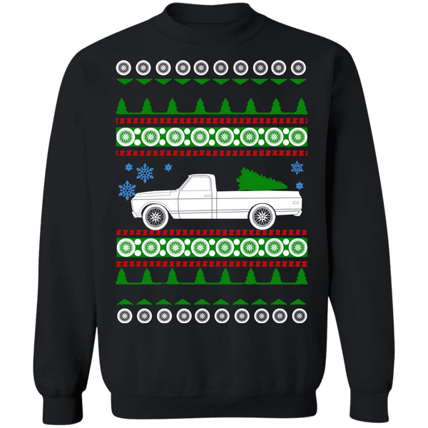1972 Chevy C10 Longbed Ugly Christmas Sweater